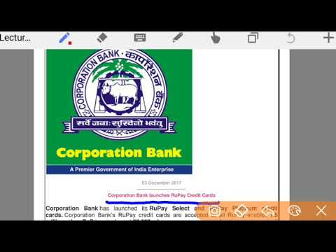 Corporation bank launches rupay credit card