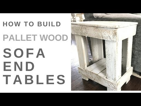 How to Build End Tables with Pallet Wood