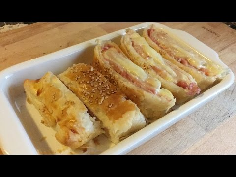 Ham and Cheese Puff Pastry Rolls|| Quick and Easy recipe