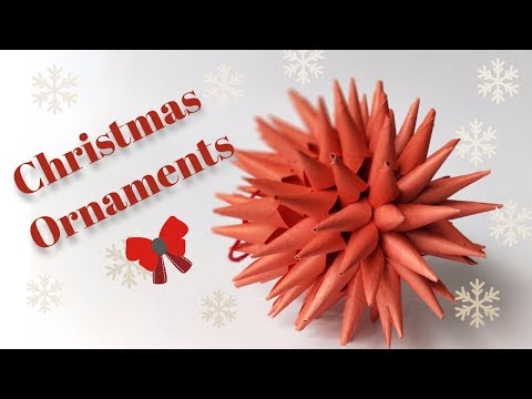 How To Make Christmas Ornaments Out Of Paper