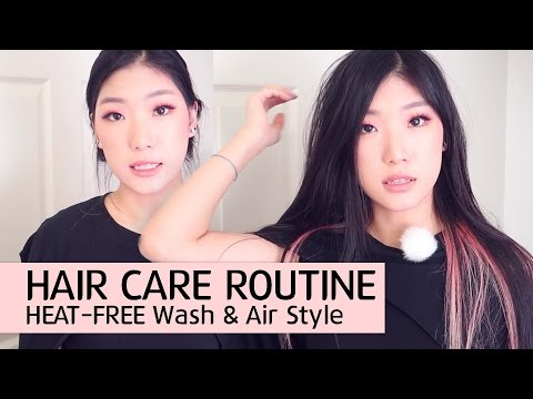 MY HAIR CARE ROUTINE - How I Wash & Air Dry Hair NO DAMAGE & HEAT FREE 💁💁💇💕😊