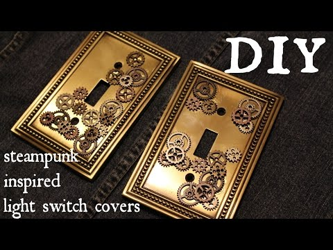 How to Make a Industrial Steampunk Inspired Light Switch Cover- Easy DIY