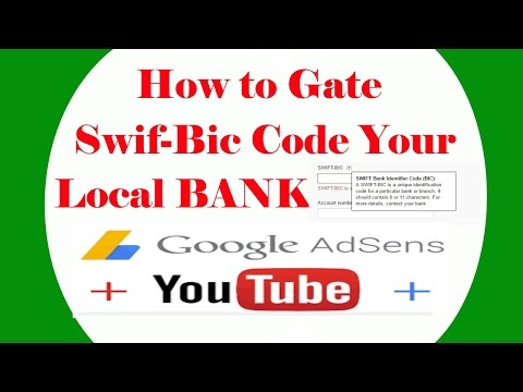 How To Get SWIFT-BIC on your local Branch - YouTubers most common problem
