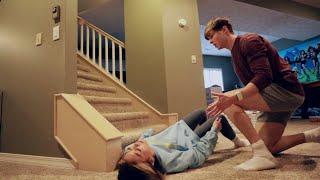 Falling Down Stairs Prank on Boyfriend (GOT HIM)