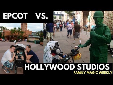Epcot vs Hollywood Studios (for a two-year old)