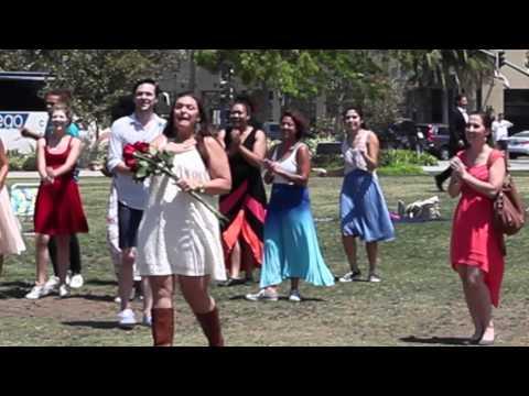Adam and Sarah's Flash Mob Proposal in San Diego