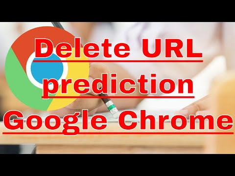 Delete a URL prediction in Google Chrome