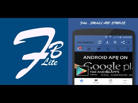 How to Browse Fast  and Free Facebook on Android Device. Download Faster For Facebook (Lite FB)