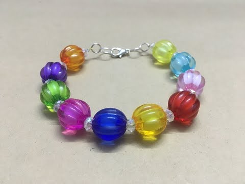 DIY beaded bracelet with a clasp - jewelry making tutorial