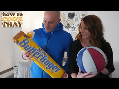 GIANT BUTTERFINGER How To Cook That Ann Reardon giant candy bar recipe