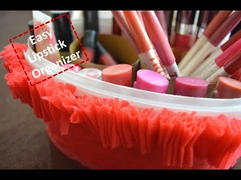 Lipstick Organizer From Waste Material | Easy And Simple DIY | Beauty Express