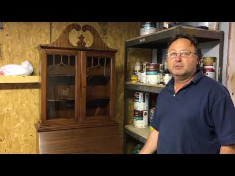 refinishing a mahogany dining room table and hutch Holland michigan
