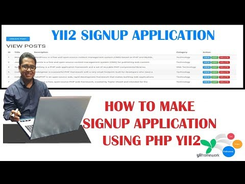How to Make a Registration Application Form using PHP YII2