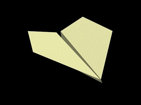 Suzanne (2012 World Record) Paper Airplane: 3D Folding