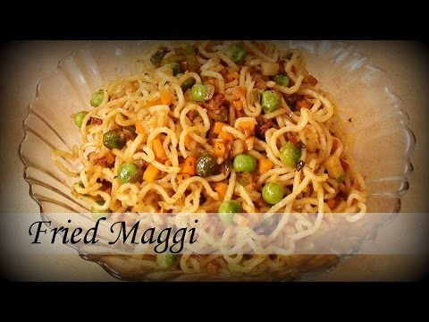 Fried Maggi Recipe- Hindi