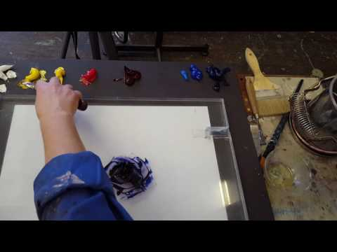 How to mix black oil paint