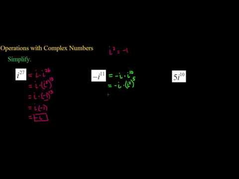 Operations with Complex Numbers Ex  4