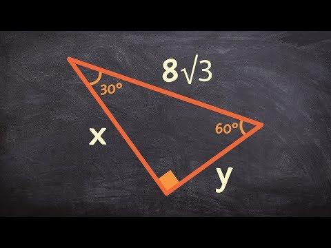 Given the hypotenuse of a special right triangle determine the missing values