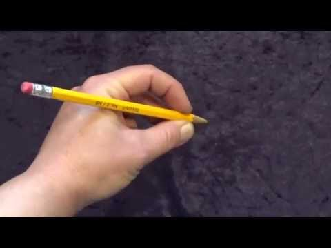 Left handed pencil pick up  teach correct pencil grasp for LEFT hand