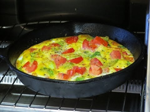 Healthy Breakfast Recipe-Eggs and Veggies Cooked in the Toaster Oven