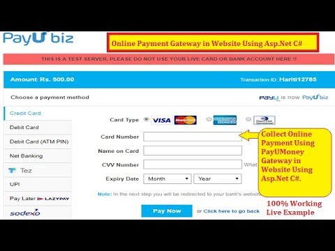 Best Way to Use Online Payment Gateway PayUMoney in Asp.Net Website C# | Hindi | Free Online Classes