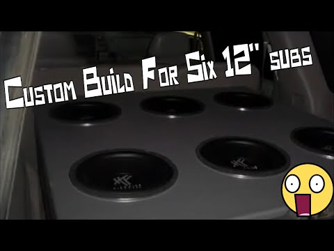 My Tahoe Sub Build for six 12