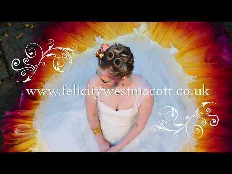 Creating the dip dye wedding dress