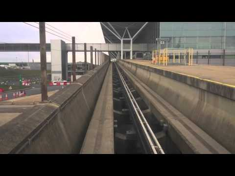 Stansted Airport Transit Metro (Arrival Gates To Terminal Building) (10/04/2016)