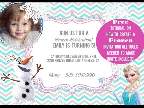 How to Make an Invitation - FROZEN themed