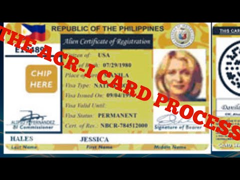 The ACR I Card Process In The Philippines