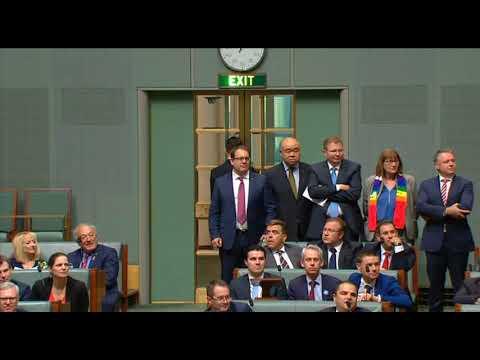 Same Sex Marriage legislation passes in the Australian House of Representatives 07/12/2017