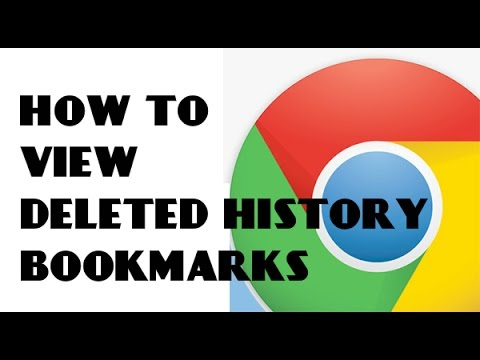 View deleted browsing history and bookmarks on google chrome easy method