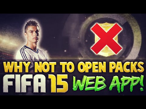 Why NOT to Open Packs on FIFA 15 Web App | FIFA 15 Ultimate Team