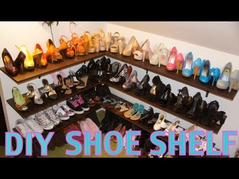 DIY Shoe Shelf and Organization