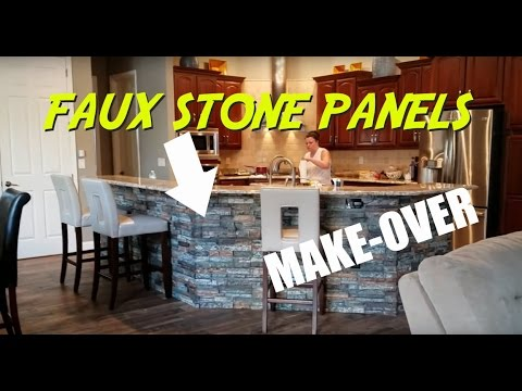 Faux Stone Panels: KITCHEN ISLAND Faux Stone Make-Over
