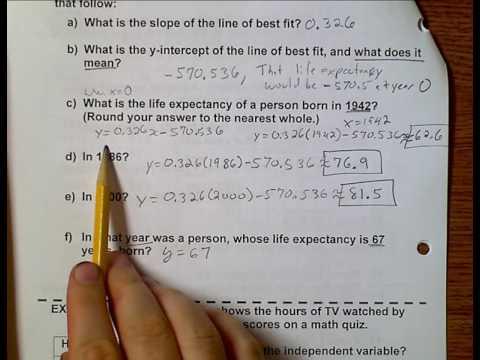 Algebra (Topic 10-3) Exploring Data