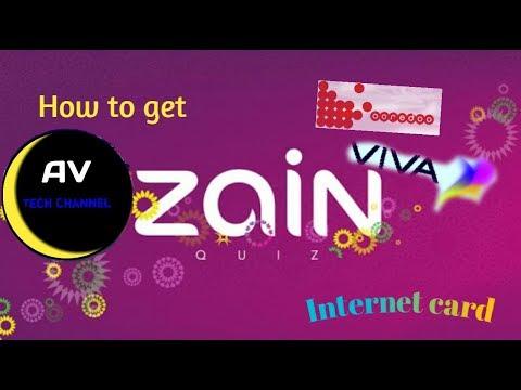 how to get intenet card in kuwait  zain  viva  oordoo