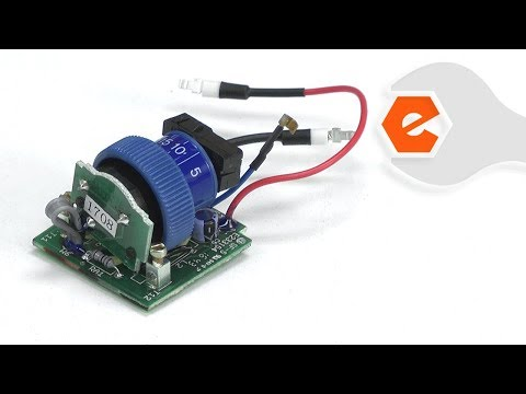 Rotary Tool Repair - Replacing the Electronic Speed Control (Dremel Part # 2610004636)