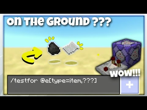 HOW TO USE TESTFOR ITEM ON THE GROUND || Minecraft PE Command