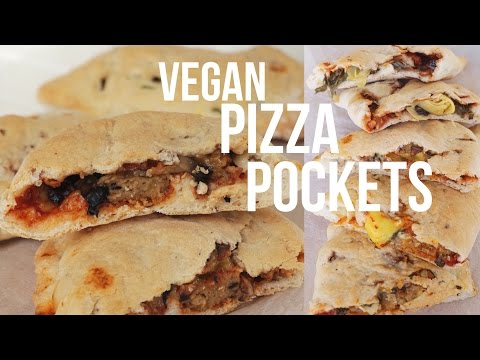 VEGAN PIZZA POCKETS | DOUGH RECIPE + FILLINGS - HEALTHY, EASY & OIL FREE