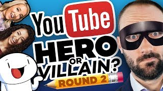 Drawing YOUTUBERS as HEROES & VILLAINS - ROUND 2!