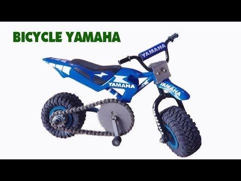 How to make bicycle YAMAHA toy – Amazing Motorbike with Car Tires – Mini Bicycle YAMAHA! 70