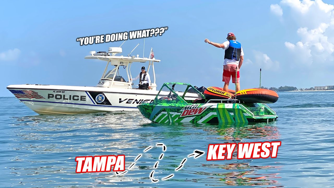 I Tried To Drive My Supercharged Mini Jet Boat From Tampa Bay to Key West (240 Miles)