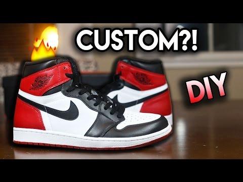 How To: Jordan Black Toe Custom From Yin Yang 1's | Full Conversion Tutorial