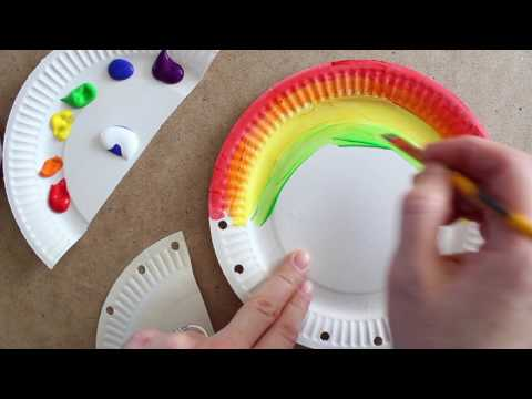 Rainbow Paper Plate Bag