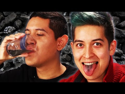 People Try Activated Charcoal Drinks
