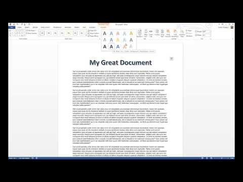 How to Add Word Art in Microsoft Word