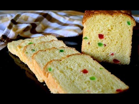 Sweet Eggless Tutti Frutti Bread