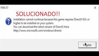 Fifa World Cup 2006 - Direct X Error fix - PakVim net HD