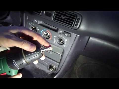 How to change dashboard console lights Toyota Corolla. Year models 1996-2002
